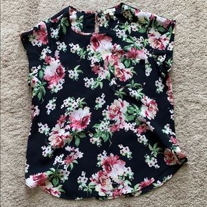Lily White Floral Top